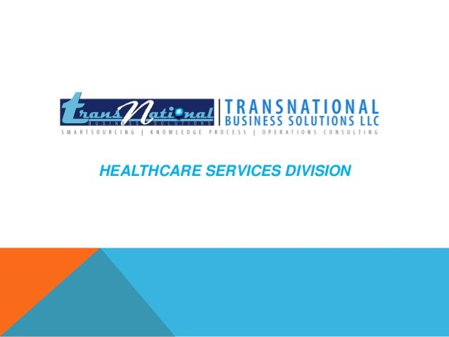 HEALTHCARE SERVICES DIVISION