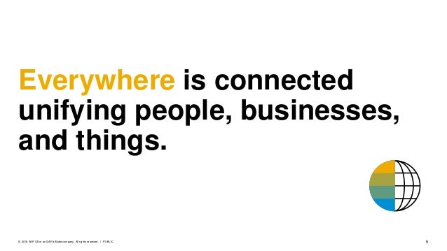 5PUBLIC© 2018 SAP SE or an SAP affiliate company. All rights reserved. ǀ Everywhere is connected unifying people, business...