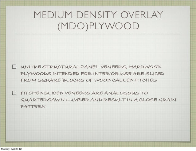 Medium Density Overlay Panel ~ Wood working basics and shrinkage types