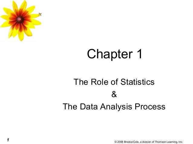 1 © 2008 Brooks/Cole, a division of Thomson Learning, Inc. Chapter 1 The Role of Statistics & The Data Analysis Process