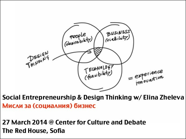 Social Entrepreneurship & Design Thinking w/ Elina Zheleva Мисли за (социалния) бизнес ! 27 March 2014 @ Center for Cultur...