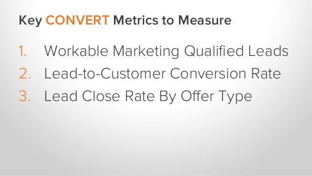 Key CLOSE Metrics to Measure 1. Percent of Leads Worked 2. Percent of Leads Attempted 3. Opportunity to Customer Rate