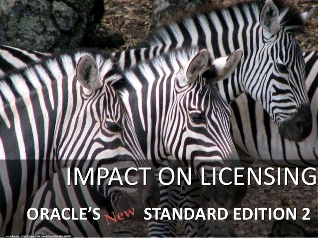 ORACLE'S STANDARD EDITION 2 IMPACT ON LICENSING cc: catlovers - https://www.flickr.com/photos/90389546@N00