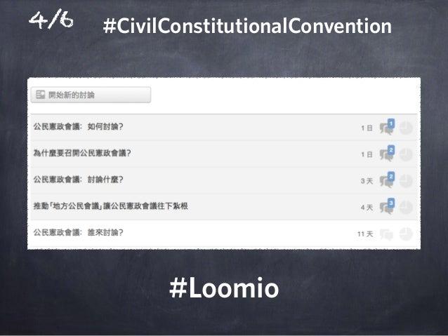 4/6 #Loomio #CivilConstitutionalConvention