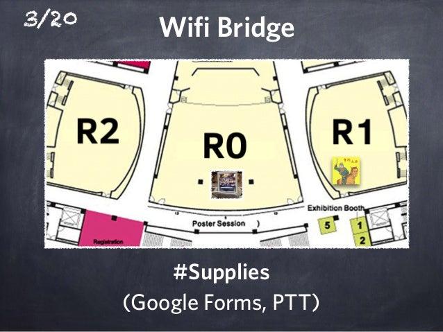 3/20 Wifi Bridge #Supplies (Google Forms, PTT)