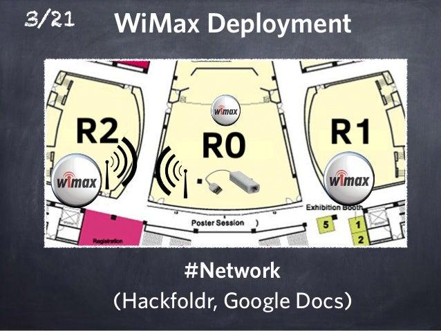 3/21 WiMax Deployment #Network (Hackfoldr, Google Docs)
