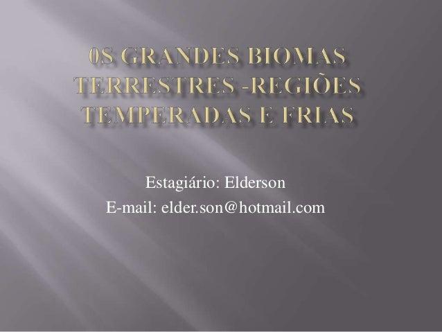 Estagiário: Elderson E-mail: elder.son@hotmail.com