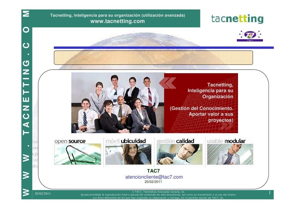 M                          Tacnetting, inteligencia para su organización (utilización avanzada)                           ...