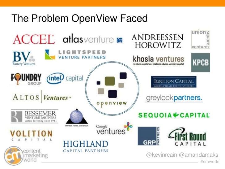 The Problem OpenView Faced                         @kevinrcain @amandamaks                                          #cmworld