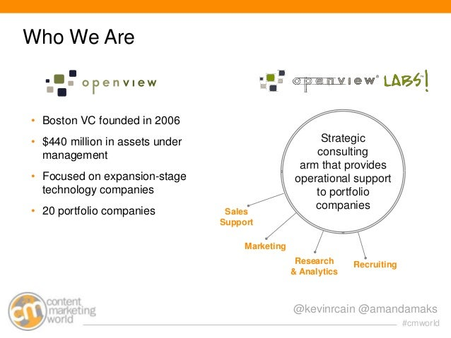 Who We Are  • Boston VC founded in 2006 • $440 million in assets under management  • Focused on expansion-stage technology...