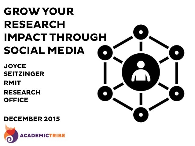 GROW YOUR RESEARCH IMPACT THROUGH SOCIAL MEDIA JOYCE SEITZINGER RMIT RESEARCH OFFICE DECEMBER 2015