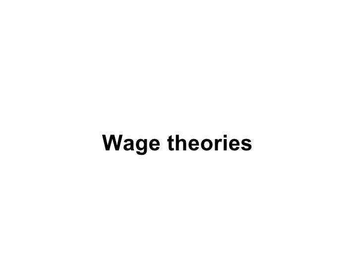 Wage theories