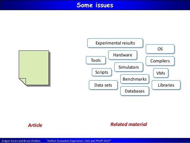Artifact Evaluation Experience CGO'15 / PPoPP'15 Slide 3