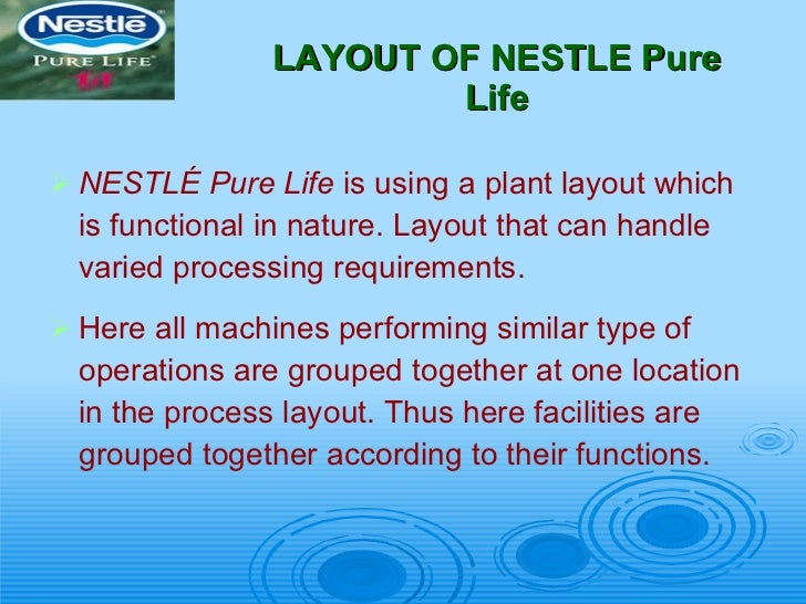 nestle mineral water-operation & production, Presentation templates
