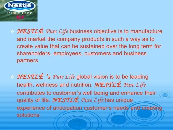 Nestle Mineral Water-Operation & Production