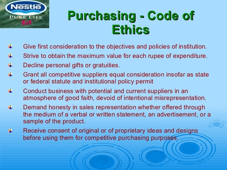ethical issues of nestle company