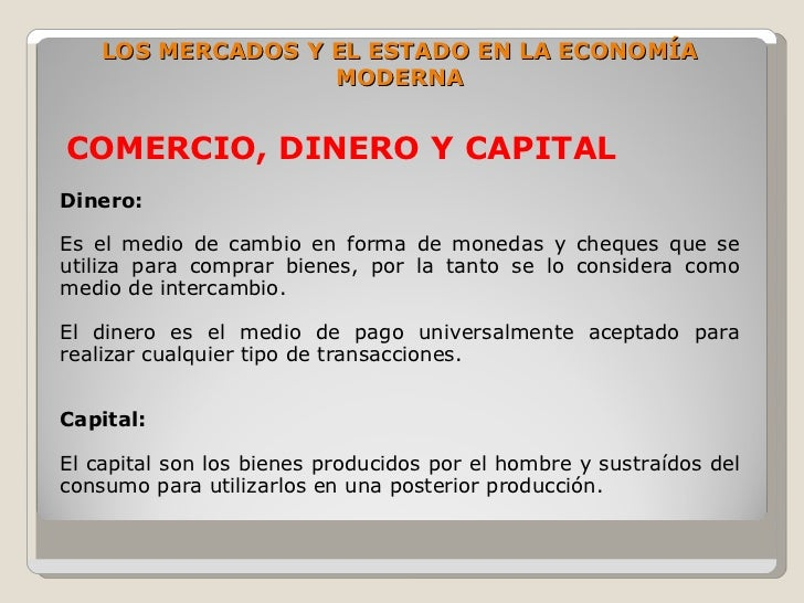 Introduccion a la economia for Que es el comercio interior