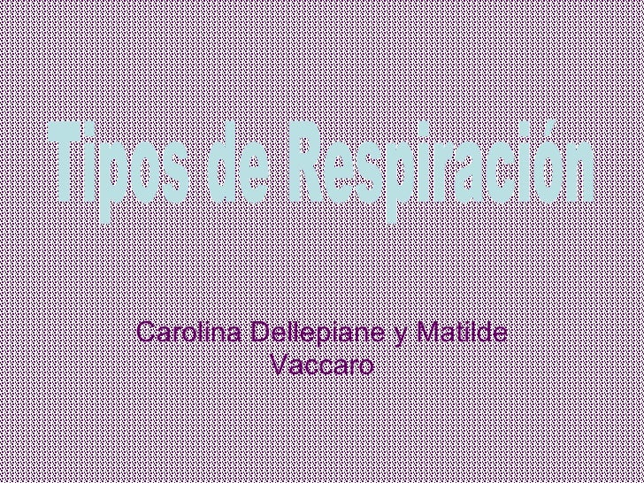 Carolina Dellepiane y Matilde Vaccaro Tipos de Respiración