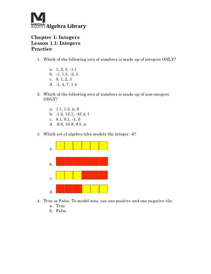 algebra 1 practice worksheets with answers free library glencoe ...