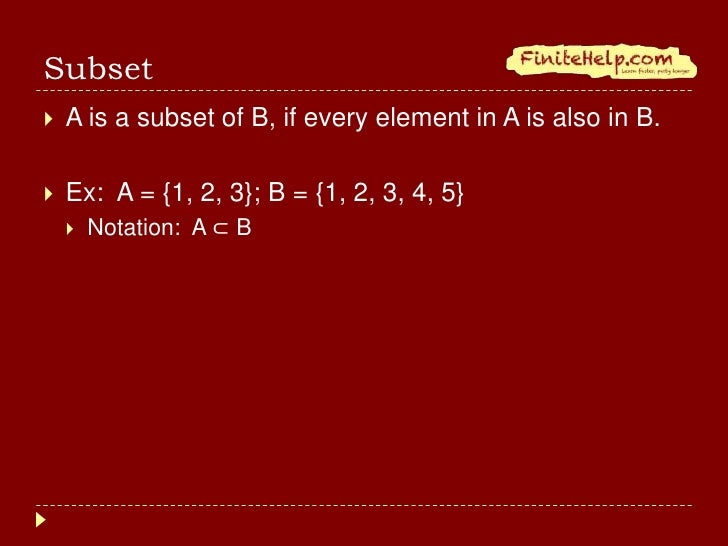 Finite Math Review Of Sets And Set Operations