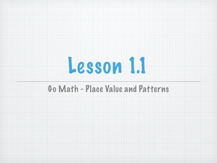 Place Value Worksheets : place value worksheets lesson 1.1 Place ...