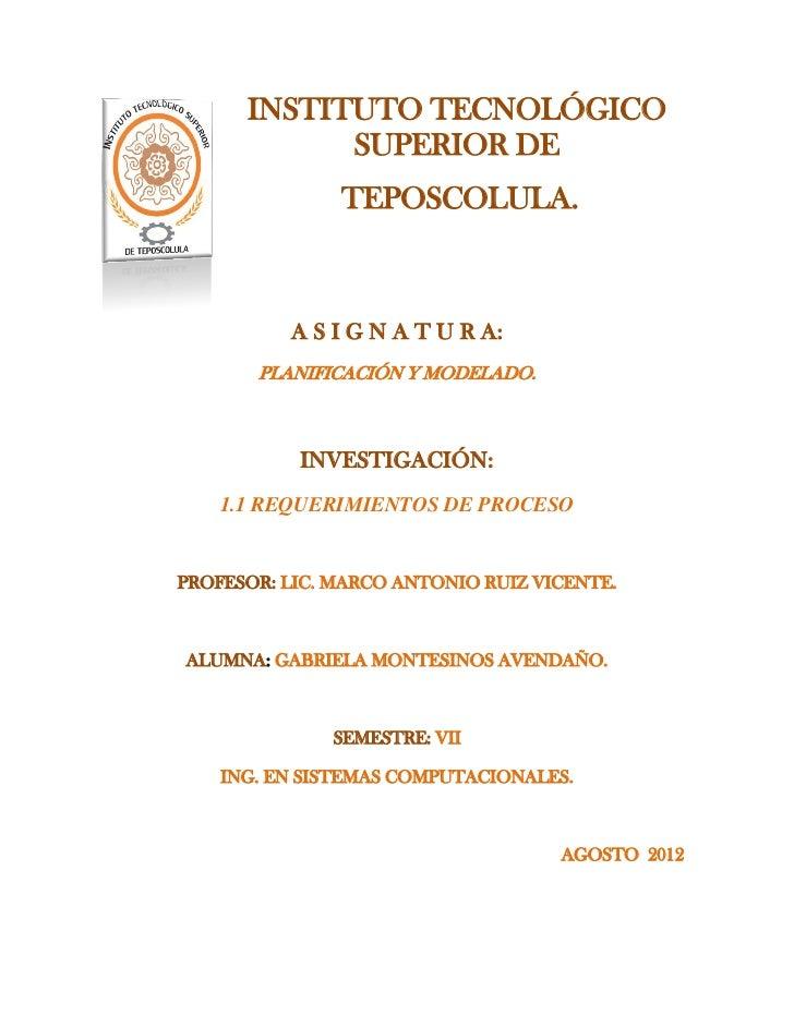 INSTITUTO TECNOLÓGICO            SUPERIOR DE               TEPOSCOLULA.          A S I G N A T U R A:       PLANIFICACIÓN ...