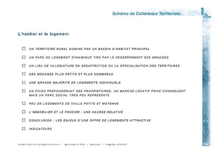 L'habitat et le logement              UN TERRITOIRE RURAL DOMINE PAR UN BASSIN D'HABITAT PRINCIPAL             UN PARC D...