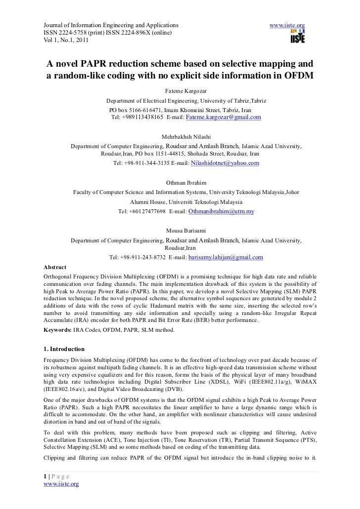 Journal of Information Engineering and Applications                                          www.iiste.orgISSN 2224-5758 (...