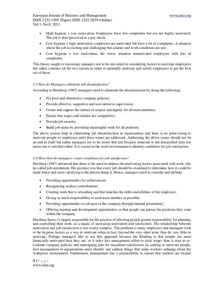Does herzbergs motivator and hygiene factor theory apply tourism essay