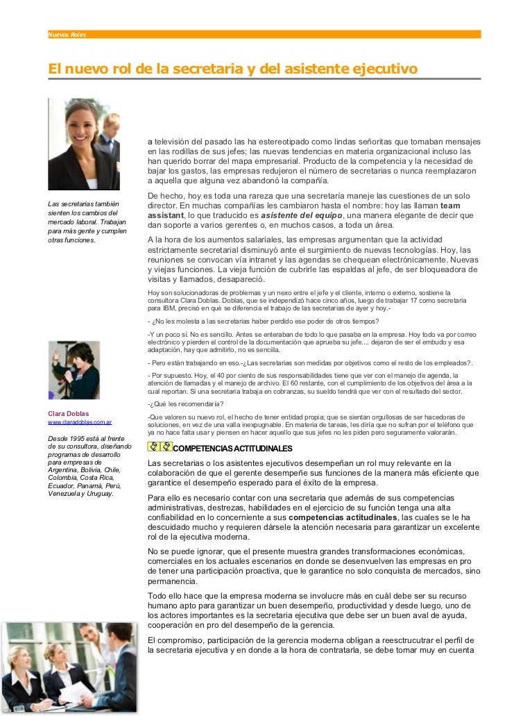 Nuevos Roles     El nuevo rol de la secretaria y del asistente ejecutivo   L                               a televisión de...