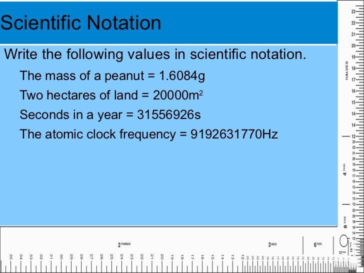 Physics 1 1 Scientific Notation