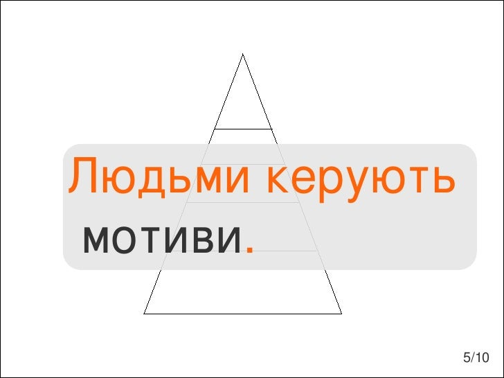 Людьми керують мотиви . 5/10