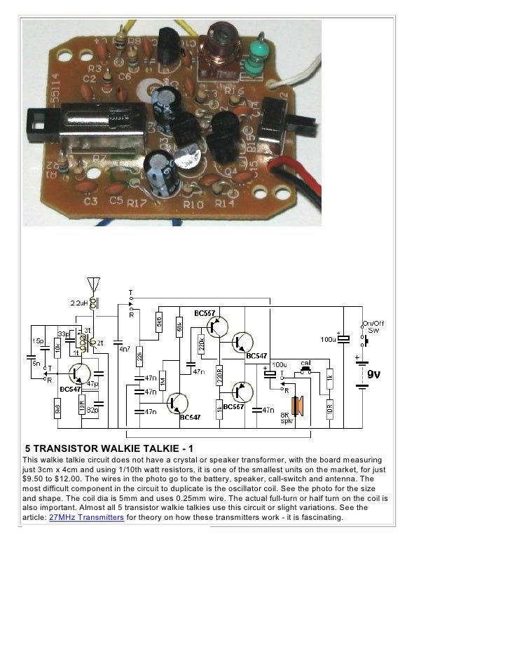 1 100 transistorcircuits 45 5 transistor walkie talkie asfbconference2016 Images