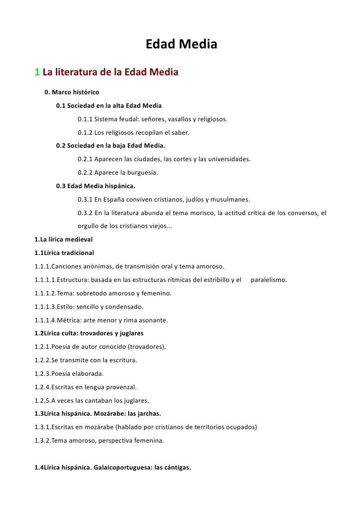 Edad Media 1 La literatura de la Edad Media    0. Marco histórico        0.1 Sociedad en la alta Edad Media               ...