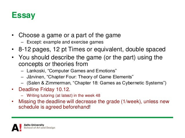 Comarative analysis of video games essay
