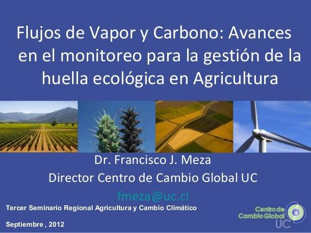 Flujos de Vapor y Carbono: Avances en el monitoreo para la gestión de la huella ecológica en Agricultura Dr. Francisco J. ...