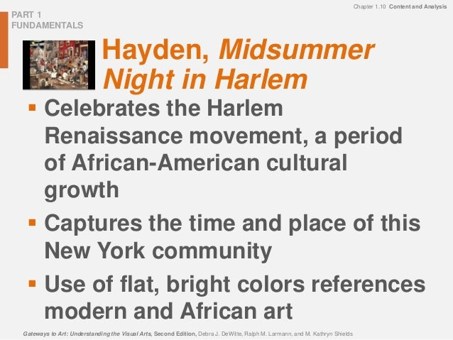 art analysis midsummer night in harlem It was indeed a perfect midsummer night to watch a midsummer night in harlem of theatre and great harlem art a midsummer night's dream provided a.