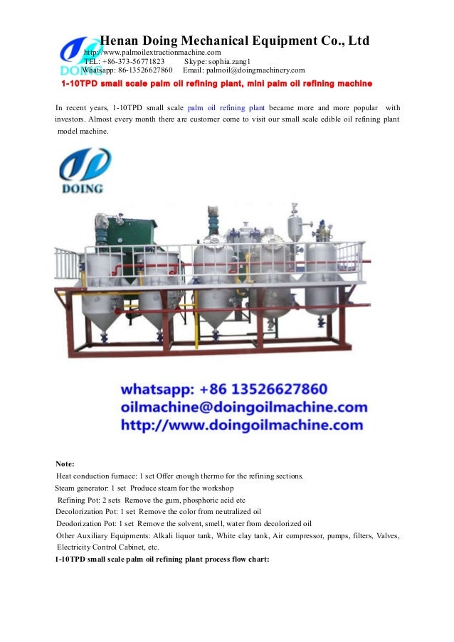 1 10 tpd small scale palm oil refining plant, mini palm oil