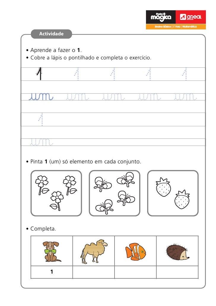 e                                                       Ensino Básico   1.ºano   Matemática     Actividade• Aprende a faze...