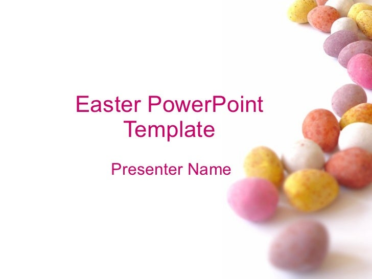 Easter PowerPoint Template Presenter Name