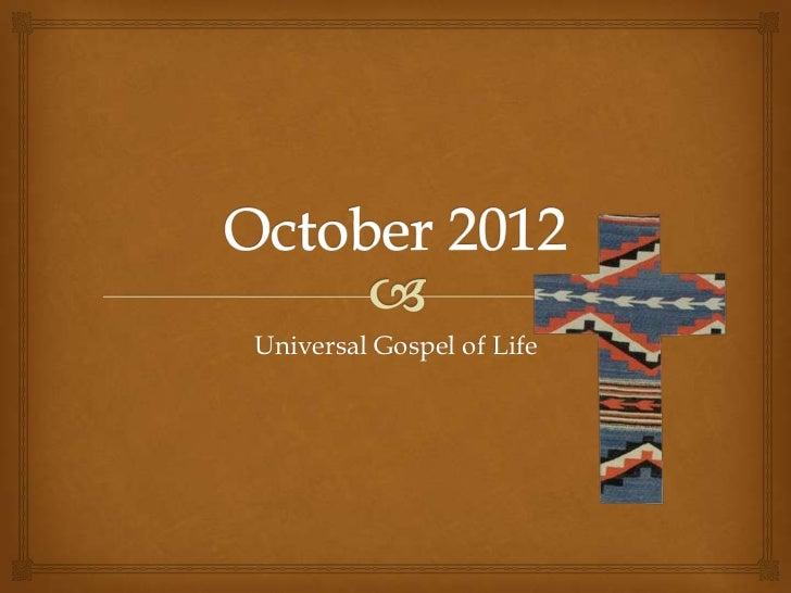 Universal Gospel of Life