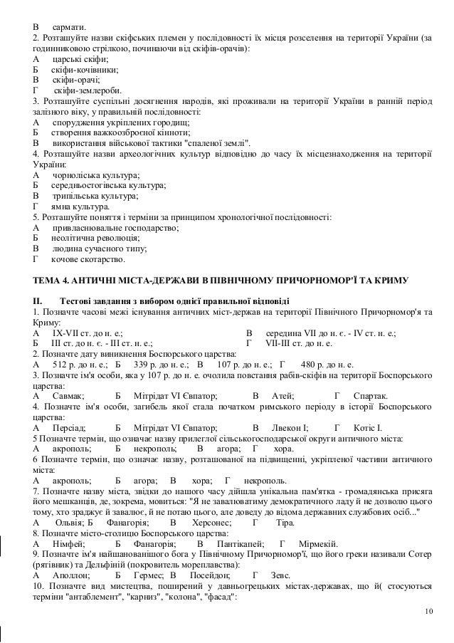 Тестові завдання для підготовки ЗНО з історії України. Теми 1-12 64f89b7964fd8