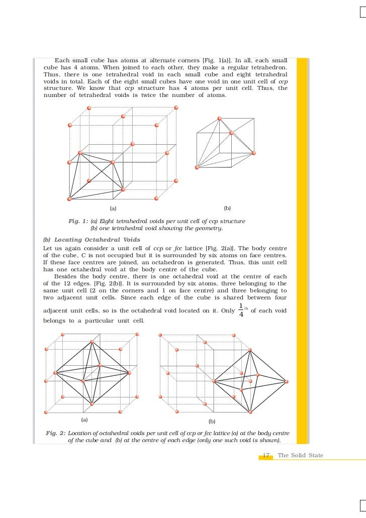 locating tetrahedral and octahedral voids essay Free practice questions for ap chemistry - molecular and electronic geometries includes full solutions and score reporting.
