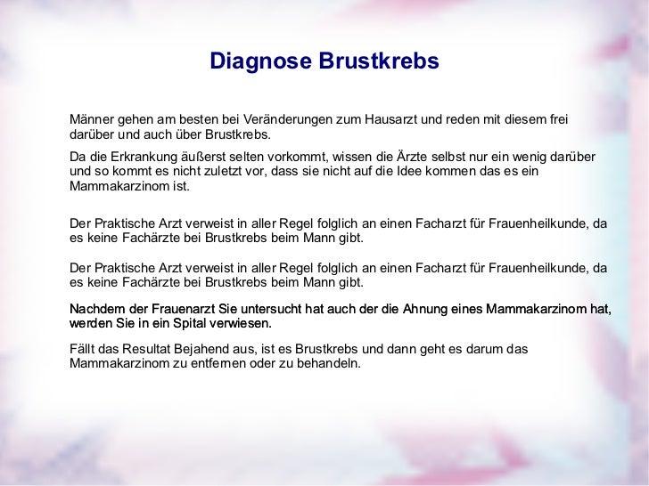 Brustkrebs Männer Symptome