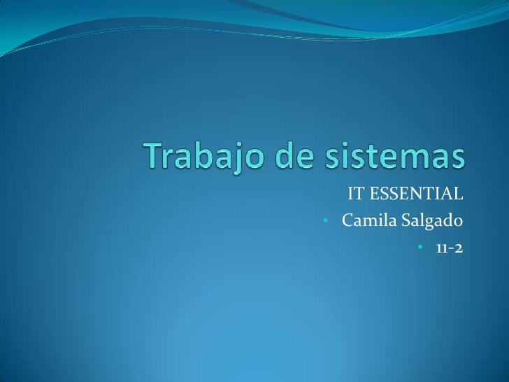 IT ESSENTIAL• Camila Salgado           • 11-2