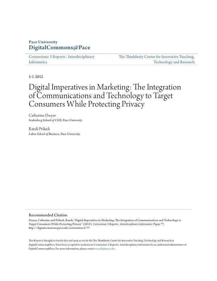 Pace UniversityDigitalCommons@PaceCornerstone 3 Reports : Interdisciplinary                                          The T...