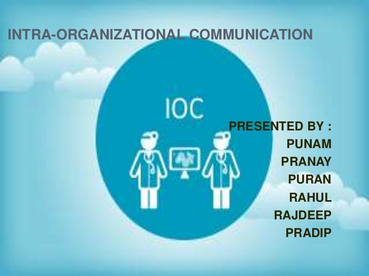 INTRA-ORGANIZATIONAL COMMUNICATION                        PRESENTED BY :                               PUNAM              ...