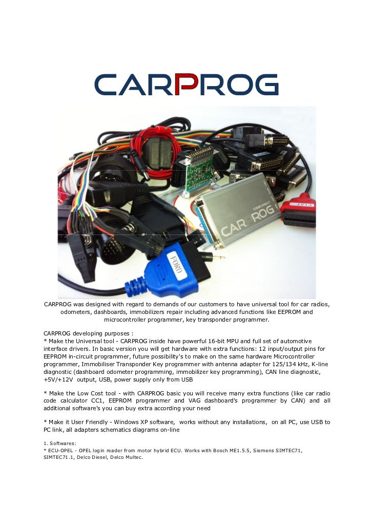 CAR ROGCARPROG was designed with regard to demands of our customers to have universal tool for car radios,    odometers, d...