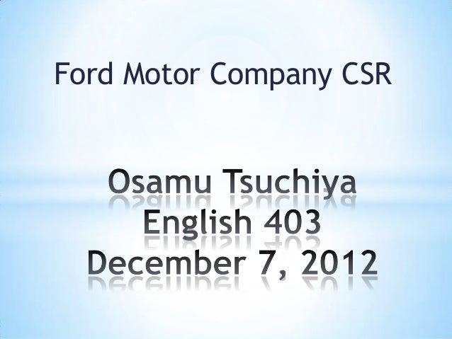 Ford Motor Company CSR
