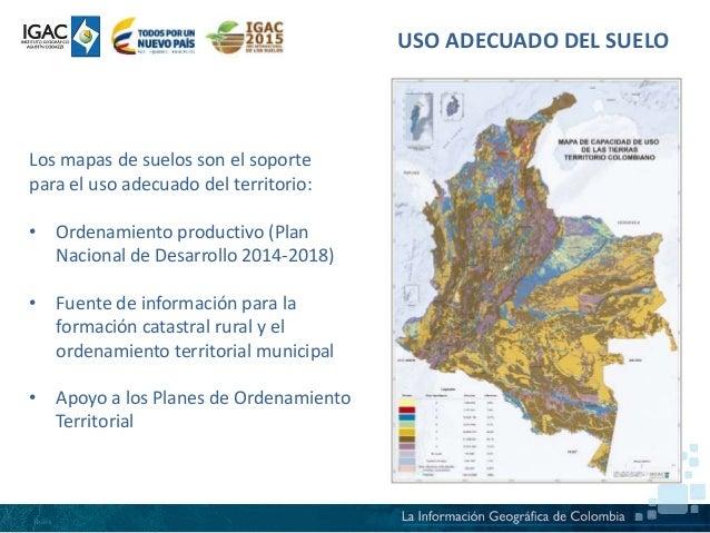 Estado prioridades y necesidades para el manejo for 4 usos del suelo en colombia
